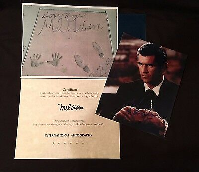 Autographed 8x10 Photo Of Mel Gibson *Authenticity