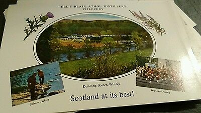 12 vintage Blair Atholl Distillery postcards