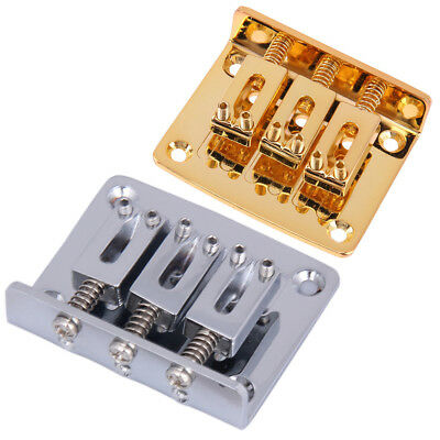 50mm Adjustable Guitar Tailpiece Bridge for Cigar Box Guitar 3 String Hard-tail