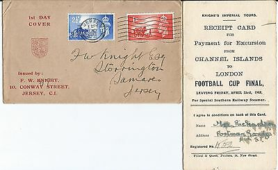 Channel Islands 1948 Knights Tours Fdc See Discription