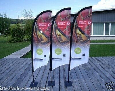 6' feather flag banner package with custom print, pole and base