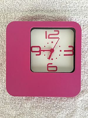 Wall & desk Clock Pink Used