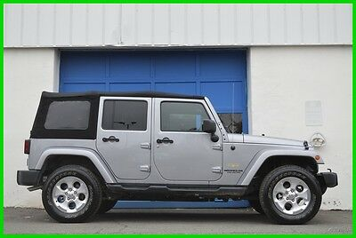 2014 Jeep Wrangler Sahara 4X4 4WD Navigation Alpine Uconnect Loaded Repairable Rebuildable Salvage Runs Great Project Builder Fixer Easy Fix Save