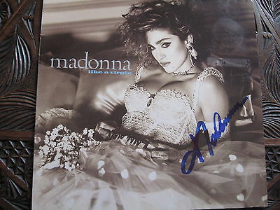 Madonna 'like A Virgin' Hand Signed Lp. Very Rare. Coa.