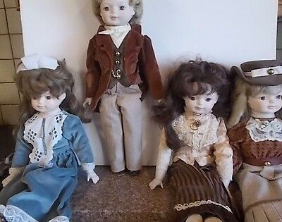 4 X Royal West Germany Porcelain Collectable Dolls