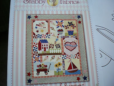 NEW SHABBY FABRICS Hearts birds applique pattern complete SET SEWING quilt