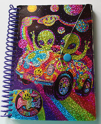 VTG Lisa Frank Alien NOTEPAD Book w/ Button Retro Notebook Paper Stationary 90's