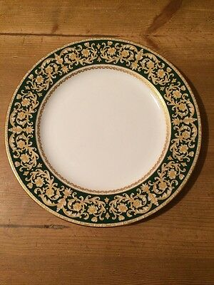 Spode 'Renaissance' pattern dinner plate - Is this a trial plate? - DARK GREEN