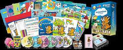 Armenian for Kids Deluxe set, Armenian learning DVDs, Books, Posters, Flashcards