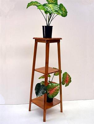 New Bamboo Multi-function Home Storage Shelf 3-Tier Flower Stand (ZHJ-12)