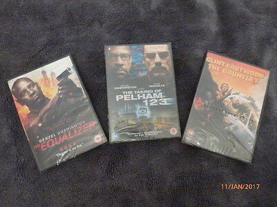 Job Lot Of 3 Dvd,s Brand New And Sealed, The Equalizer, The Gauntlet, Pelham 123