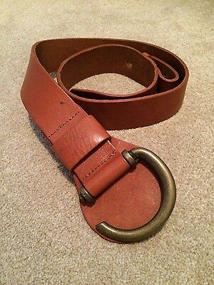 The Barn leather Tan ladies belt size s m