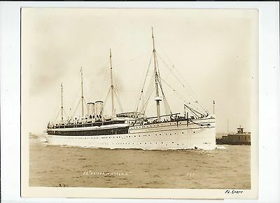 """Ss Kaiser Wilhelm Ii, 158,  By And Signed By Percy Loomis Sperr 8X10"""""""