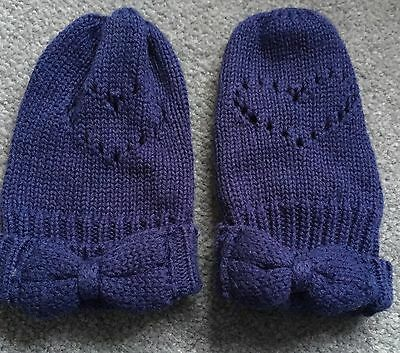 Boots Mini Club Blue Mittens. Baby Girls 6-12 Months