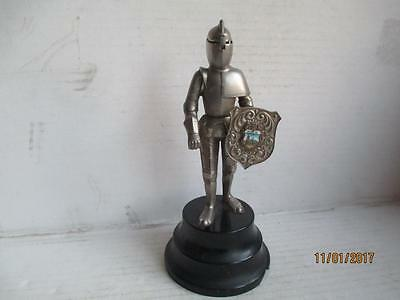 Vintage, Musical Table Lighter, Knight In Armour, With Shield, Koln.