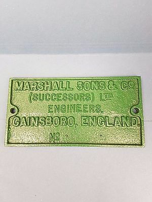vintage cast iron plaque marshall and sons