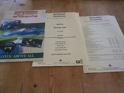 Lotus Elise Road Test Sales Literature by Bell and Colvill Lotus Dealer 2003