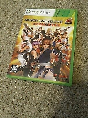 Dead or Alive 5 Ultimate Xbox 360 Japan Version NTSC-J USA SELLER