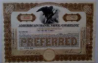 American Bank Note Preferred Stock Certificate