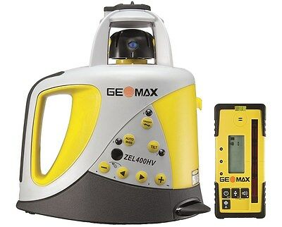 GeoMax ZEL400H Self Leveling Laser With ZRD105 Digital Receiver 6010631, Tripod