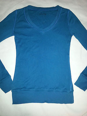 TEE-SHIRT MANCHES LONGUES PIMKIE TAILLE M-Bleu