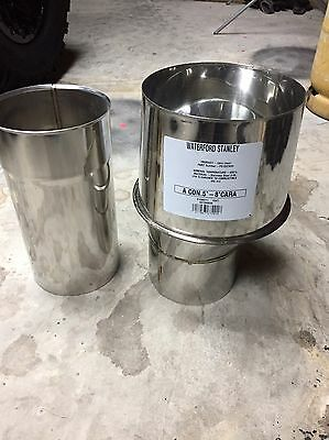 "Stanley Stove/chimney 5-8"" Adaptor And Extension"