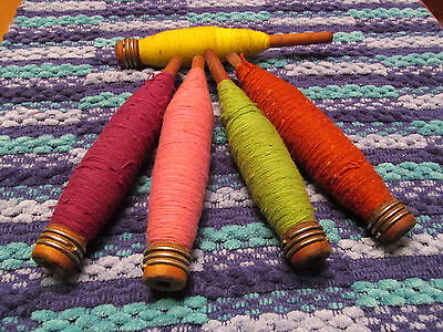 POWER  LOOM  BOBBINS, can be used for HANDWEAVING  with yarn on it