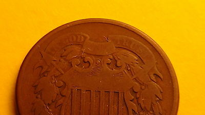Circulated 1864 Two 2 Cent