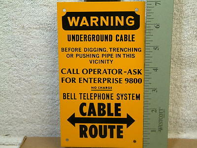 """Vintage Bell Telephone System Warning Signs 4""""x7"""" never installed!!"""