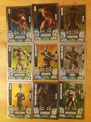 bulk set of star wars force attax cards in great condition