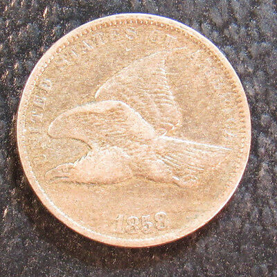 1858 Flying Eagle Cent Small Letters #4