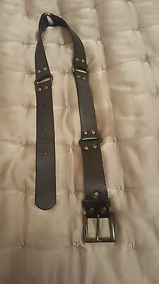 Dark brown belt faux leather size small