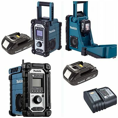 Makita Radio Dmr102 Complete With Makita Lithium Battery+Rapid 45 Minute Charger