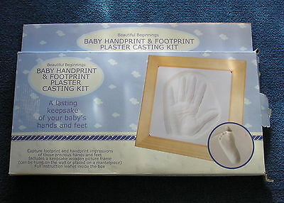 Beautiful Beginnings Baby Plaster Cast Hand And Foot Print Kit
