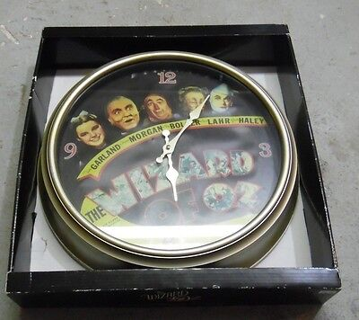 #^m Wizard of Oz LARGE Retro Movie Poster Wall Clock in Original Box!