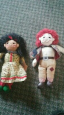 """10"""" Original Rosie And Jim Dolls - Ragdoll Productions - Immaculate"""