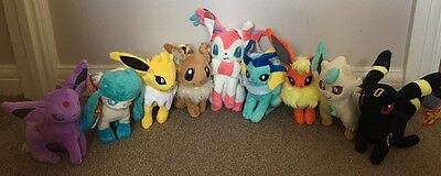 Pokemon Go Plush Collection - Choice of 9 Eevee Plush Characters or Full Set