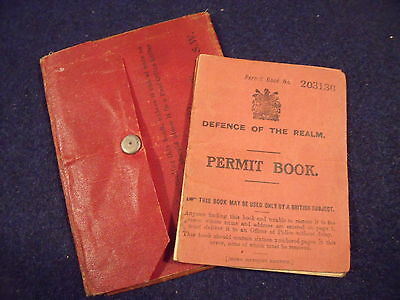 Defence of the Realm Permit Book & War Office wallet, Isle of Sheppey, Harringay