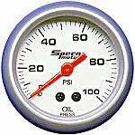 "Speco Mechanical Oil Pressure Gauge 2"" 0-100 PSI Sports Series 524-16"