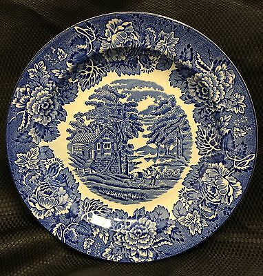 "1 Wood & Sons England Enoch Woods Ware English Scenery 7 3/4"" Salad/Side Plate"