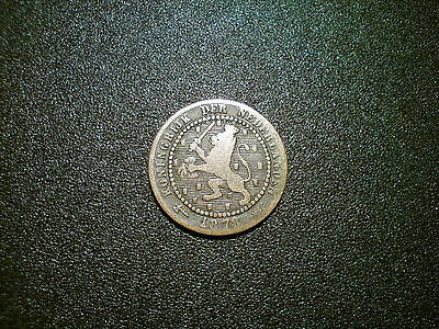 1878 Netherlands 1 Cent Coin