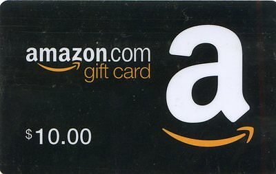10 Dollar $ Amazon Gift Card Coupon Amazon.com Unused