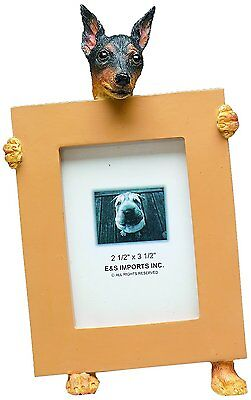 Miniature Pinscher Black Min Pin Dog Picture Photo Frame