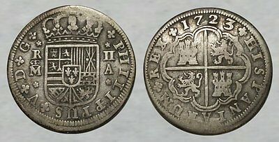 290+ Year Old Spanish Colonial SILVER Coin ..... dated 1723 * PIRATE TREASURE *