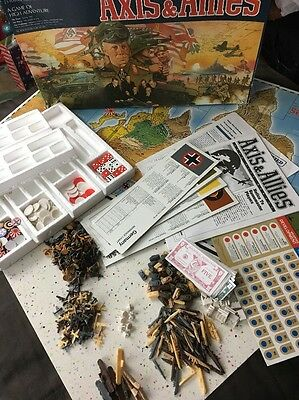 Axis & Allies 1987 Vintage Board game 99% Complete