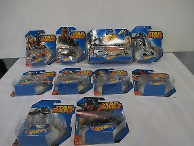 Lot of 10 Hot Wheels Star Wars Cars New In Box