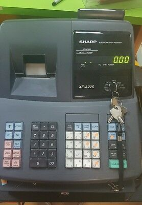Sharp XE-A22s Electronic Cash Register CLEAN used