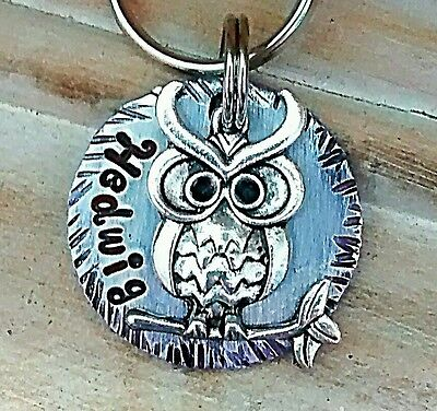Pet ID Tags Dog Tags Cat Tags personalized Tags Harry Potter Magical Beasts owl