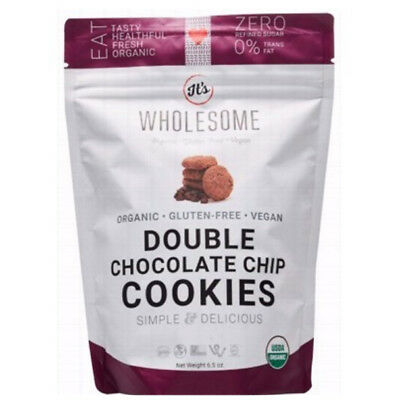 Organic Double Choc Chip Cookies 184g - Wholesome Chow