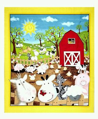 Animal Farm Quilt Panel * New * Cute * In Stock * Free Post *